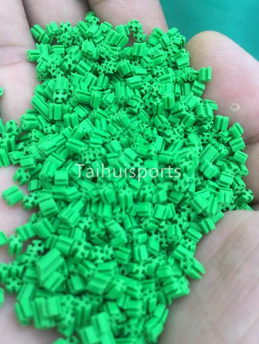 Recyclable UV&heat resistant SEBS Rubber Artificial Grass Infill odorless Food grade Hollow Shape 2MM - 4MM Diameter