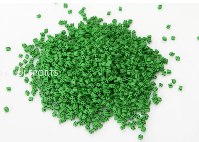 Cooling Synthetic Turf Infill Recyclable TPE Rubber Filling Indoor/Outdoor Pitch Low Bulk Density UV resistant