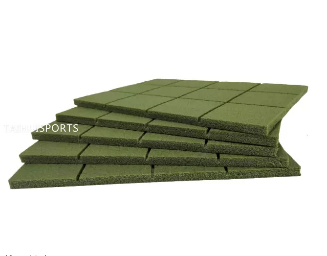 Two Sides Slotted Sports Flooring Shock Pad Foam Underlay For Fake Grass Water Proof Various Thickness