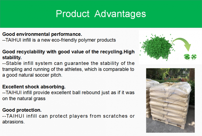 Cooling Synthetic Turf Infill Recyclable TPE Rubber Filling Indoor/Outdoor Pitch Low Bulk Density UV resistant 2