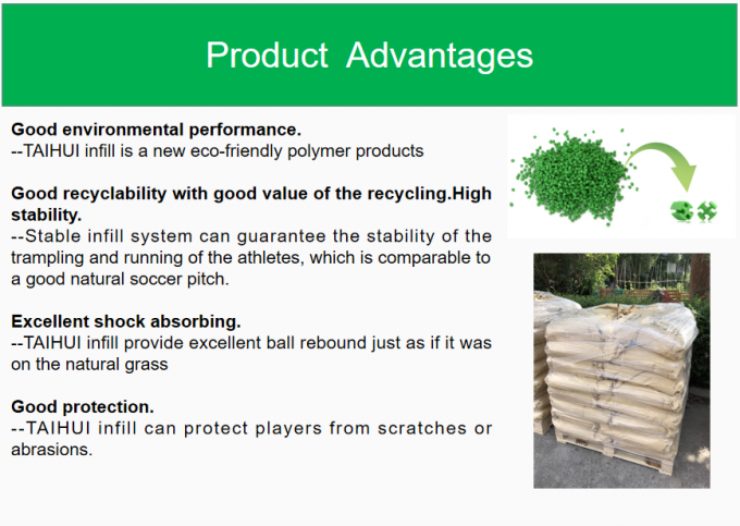 Low Bulk Density UV resistance Artificial Turf Infill TPE Rubber Granules Recyclable For Outdoor Soccer Fields 1